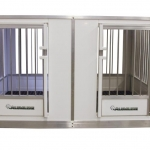 Side By Side Law-Barred Dog Kennel