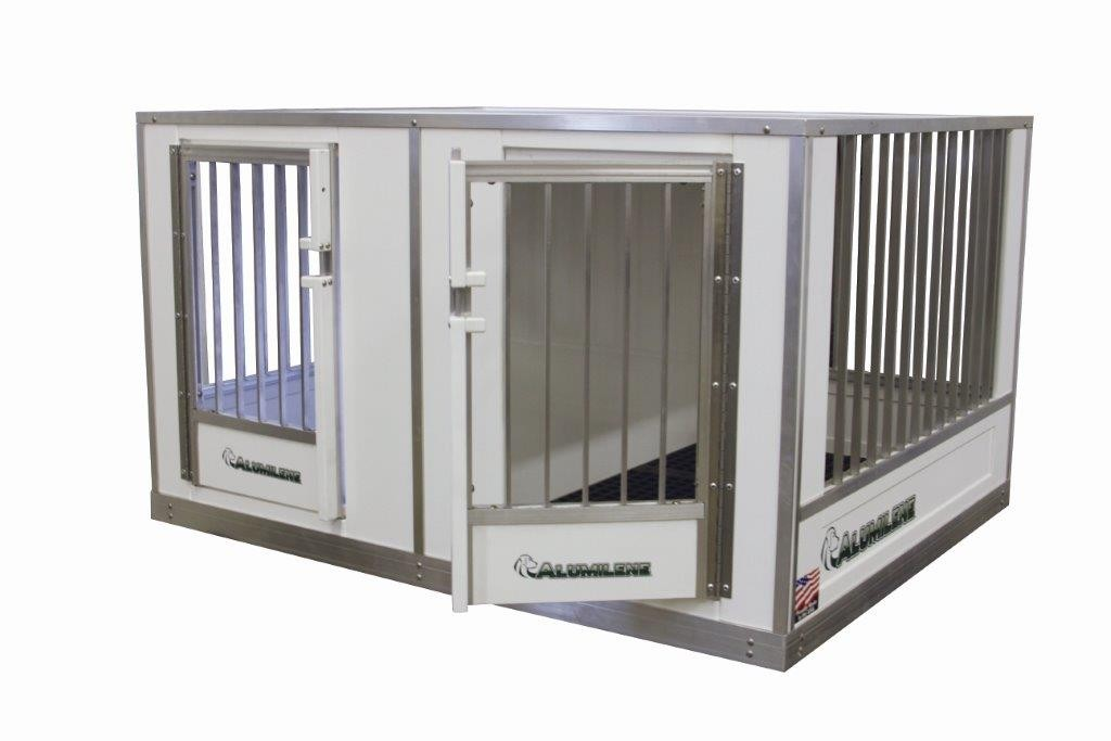 side by side law dog kennel - Alumilene